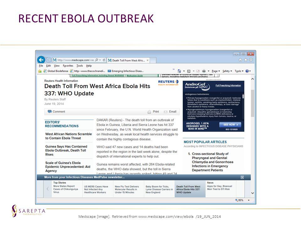 RECENT EBOLA OUTBREAK Medscape [Image]. Retrieved from www.medscape.com/view/ebola /19_JUN_2014